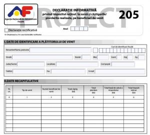 Declaratia 205: ce categorie de angajatori nu mai trebuie sa depuna formularul din 2017