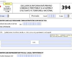 Declaratia 394 a fost simplificata: principalele modificari