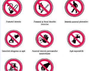 Cerinte minime pentru semnalizarea pe recipiente si conducte