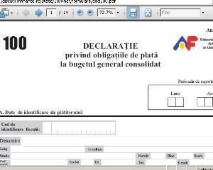 ANAF a modificat formularul electronic pentru declaratia 100