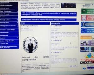 Hackerii Anonymous Romania au spart site-ul Politiei Romane: ce mesaj au transmis autoritatilor